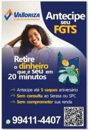 Título do anúncio: Saque Aniversário FGTS - Antecipação de até 5 anos
