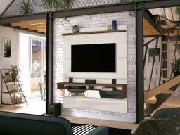 """Painel TV 55"""" glos 1,35m Duas gavetas e espelhos. Trabalhamos com toda linha de móveis."""