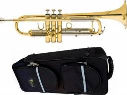 Trompete Eagle Tr-504 Laqueado + Bocal + Case rígida 100% Novo