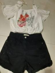 Conjunto jeans preto