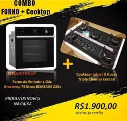 Combo Forno + Cooktop(Novos na Caixa)
