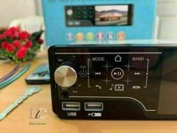 Título do anúncio: Promoção Do Rádio de Carro MP5 passa vídeos,  tela touch-screen. Receba em casa