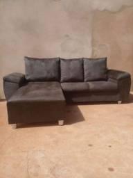 Título do anúncio: Sofá chaise novo (entrego) parcelo