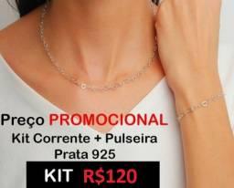 Promoção kit prata 925