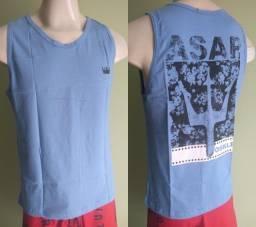 Camisa regata camiseta multimarca camisa masculina P até GG