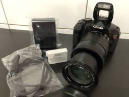 Título do anúncio: Câmera Canon T3i + Lente 18-135mm Super Zoom com Tela Retrátil + Entr. Microfone
