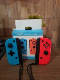Título do anúncio: Joycons Nintendo Switch (similares)+tiras