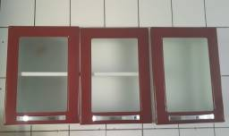 Título do anúncio: Armário de aço vermelho 3 portas