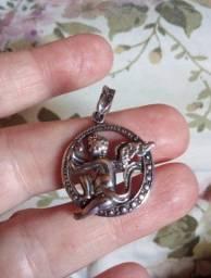 Pingente prata 925 medalhão de anjo com entrega da OLX para todo Brasil