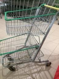 Carrinho Supermercado Duplo Cesto - Usado
