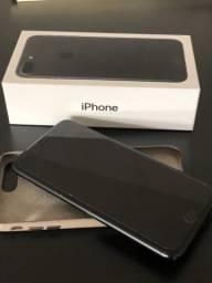 IPhone 7 PLUS, 128Gb, Preto + Capa de Couro