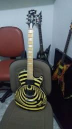 Guitarra lês paul gibson réplica 1a linha zakk wylde vertigo