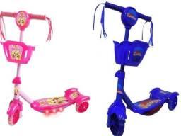 Patinete Menino/Menina Infantil 3 rodas Carros Mcqueen Musica-luz Entregamos RJ