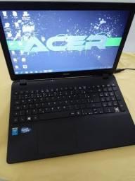 Notebook Acer Quad core 4GB HD 500 tela led 15.6 Windows 7ultmat ótimo estado