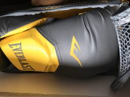 Kit -Saco de pancada Punch, Luvas Everlast, tornozeleira