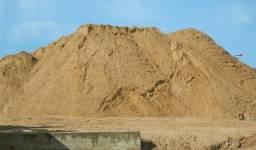 Areia, pedra e Blocos de concreto