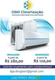 Instalação de ar Condicionado, Higienização e Manutenção
