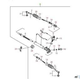 Caixa direção Kia Cerato Cod. 577002F100 R$2390