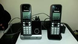 Telefone Sem Fio Panasonic Kx-tg6712lbb C/bina Viva Voz