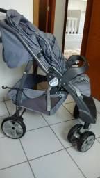 Conj. carrinho e bebê conforto com base
