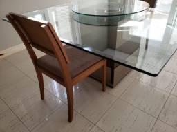 Conjunto Base Mesa de Jantar + 06 cadeiras em madeira maciça comprar usado  Porto Alegre