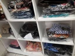 Lote 100 peças novas de roupa