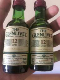 The Glenlivet Scotch Whisky / Uisque Escocês 12 anos garrafa 50ml 2 unidades, usado comprar usado  São Paulo