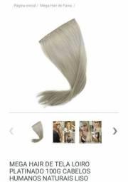Mega hair loiro platinado 100% humano, usado comprar usado  São Paulo