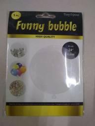 """Promoção! Lote 15 balões Funny Bubble transparente (61cm,24"""" Clear).produto novo"""