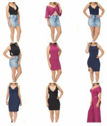 Lote de 100 peças roupa feminina