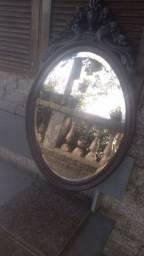 Espelho antigo madeira entalhada
