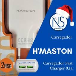 Carregador Fast Charger 3.1a Hmaston C/ 2 entradas Usb's