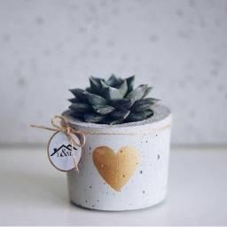 Vasinho Artesanal Decorativo De Cimento/concreto Para Suculentas e Plantas Pequenas