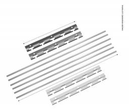 Suporte em Inox para Churrasqueira e 6 barras de aluminio 1m