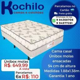 Título do anúncio: Unibox casal com colchão acoplado de molas