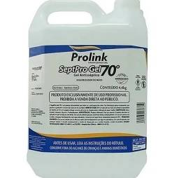Álcool em gel 70 SeptoPro 4,4kg Prolink