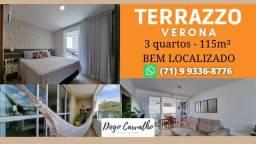 Título do anúncio: Terrazzo Verona- Apartamento em Patamares 3 quartos em 115m²- Oportunidade (R2)