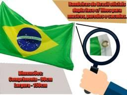 Bandeira decoração Brasil com ilhos dupla face