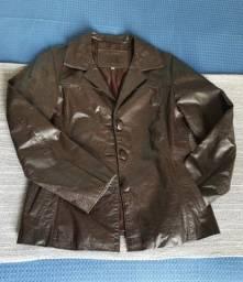 Título do anúncio: Casaco de couro marrom e jaqueta jeans