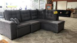 Sofá canto Retratil e reclinável novo pegamos seu sofá na troca