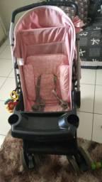 Carrinho de bebê Berço reversível Thor Tutti Baby Rosa