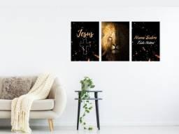 Título do anúncio: Kit 3 placas decorativas - mdf 20x27,5