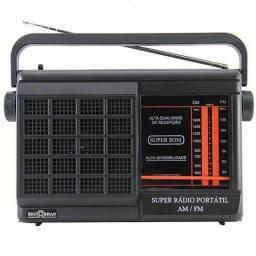 Rádio Portátil, AM/FM, Antena telescópica