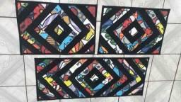 Título do anúncio: Jogo de tapete cozinha 3 peças forro corino