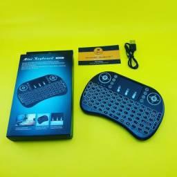 [Promoção] Mini Teclado Multimedia ( Tv Box ) Iluminado - Sem Fio