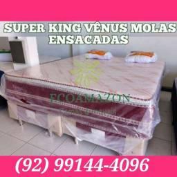 Título do anúncio: CAMA SUPER KING VÊNUS LUXUOSA MOLAS ENSACADAS