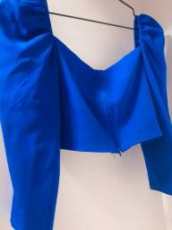 Título do anúncio: Croped Azul - Nica