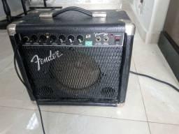 Cubo Fender+violao+cabos