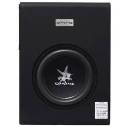 Título do anúncio: Caixa Amplificada Automotivo Som Corzus  Slim  Subwoofer 8 Polegadas + 2 Canais Stéreo<br><br>