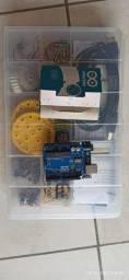 Título do anúncio: Kit arduino Uno robo core